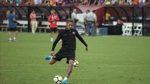 Neymar, en la gira por EEUU