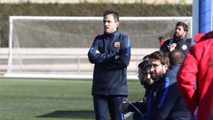 Sergi Milà, técnico del FC Barcelona
