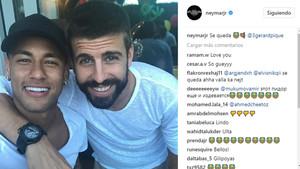 Neymar y Piqué, en el segundo se queda