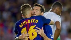 Messi está engrasando su conexión con Deulofeu