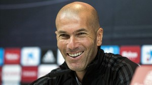 Zidane, durante la rueda de prensa previa al Real Madrid - Betis