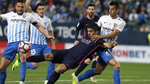 El Barça dejó escapar cinco puntos ante el Málaga la temporada 2016 - 17