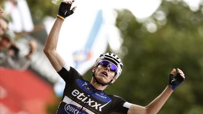 El ciclista David De La Cruz, con la Marató de TV3