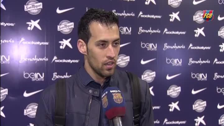 """Sergio Busquets: """"En campos as� se ganan las Ligas"""""""