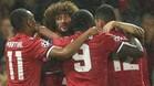 Fellaini abrió la cuenta goleadora del Manchester United