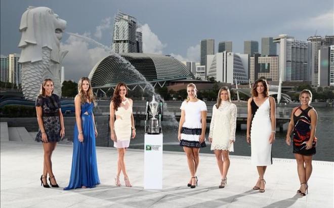 Foto de gala de las Finales WTA de Singapur, cortes�a de la WTA