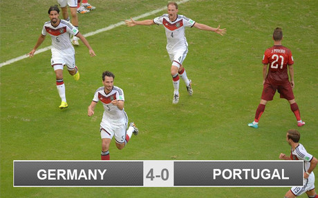 Germany got off to a dream start in Brazil