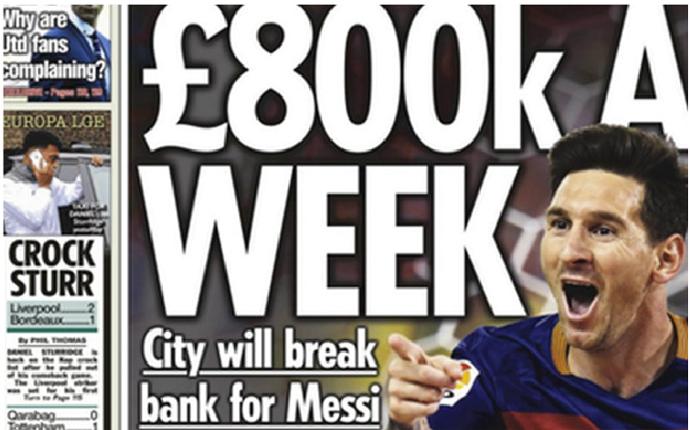 El Manchester City pierde la cabeza por Leo Messi