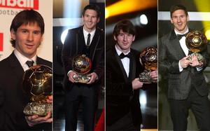 Messi ha destacado últimamente por sus trajes en las galas