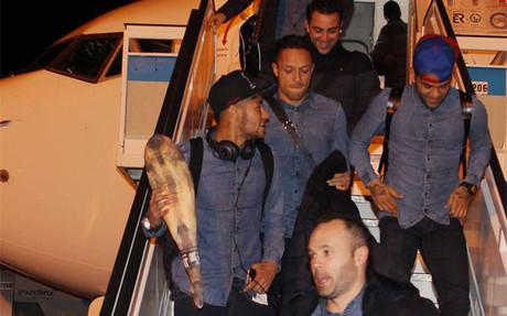 Neymar, con su jam�n de pl�stico