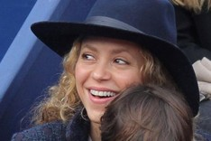 Shakira, durante un partido