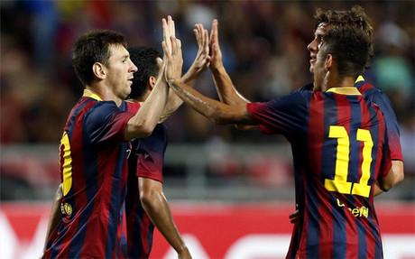 El Bar�a confiar� en Messi y Neymar