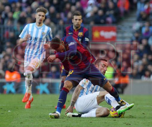 صور : مباراة برشلونة - ملقا  0-1 ( 21-02-2015 )  1424541252255