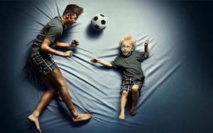 Neymar junto a su hijo en una divertida imagen