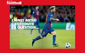 Leo Messi, en las páginas de France Football