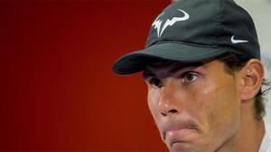 Rafa Nadal atendió a los medios a su llegada a Barcelona