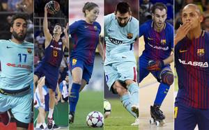 Las seis secciones profesionales del FC Barcelona lideran sus respectivas ligas