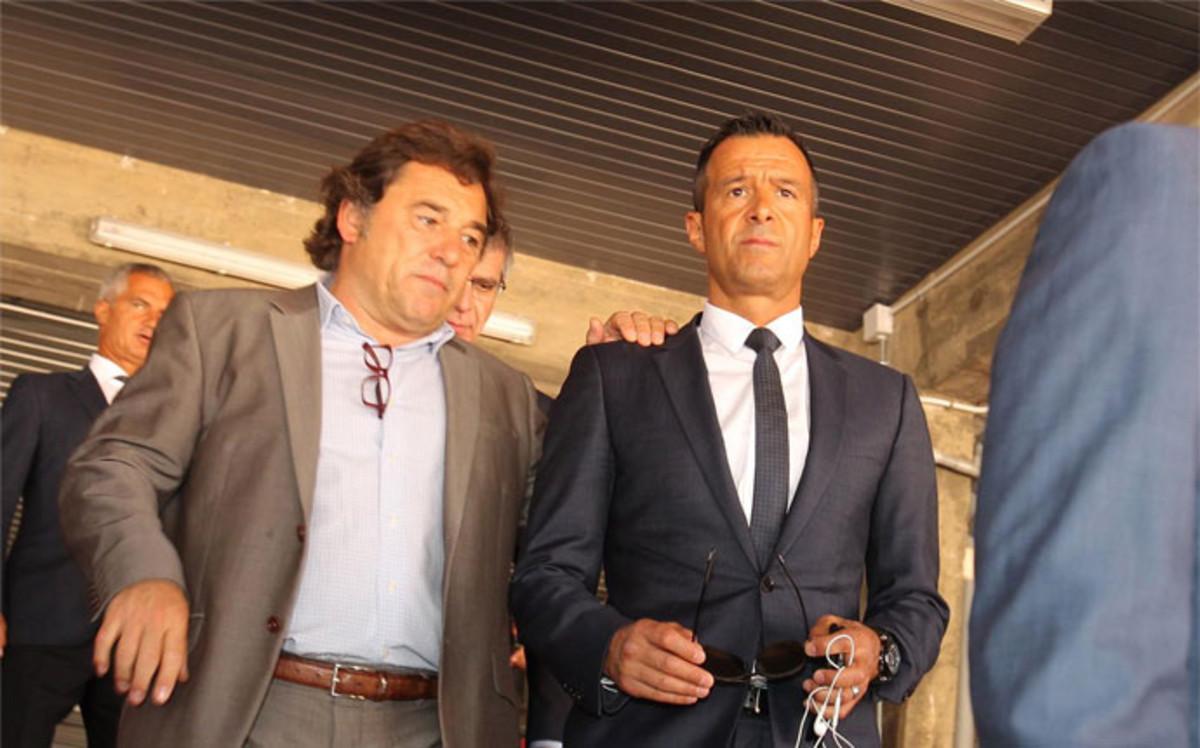 Jorge Mendes volvi� a pisar el Camp Nou