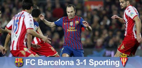 El Barça logró imponerse al Sporting