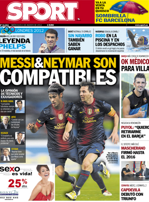Catalan paper Sport photoshops Neymar into a Barcelona top