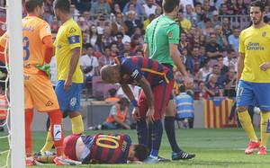 El partido contra Las Palmas en el que se lesionó Messi fue el primero que el Barça jugó esta temporada a las 4 de la tarde