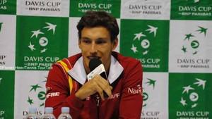 Pablo Carreño, jugador del equipo español de la Davis