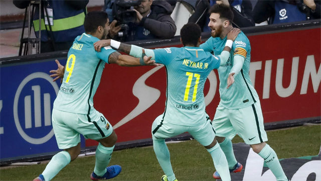 Video resumen Atlético de Madrid - FC Barcelona (1-2). Jornada 24, Liga Santander 2016-17