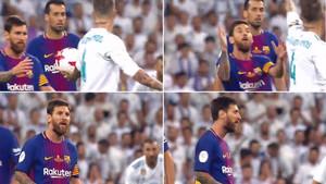 Cuatro imágenes del lamentable vacile de Sergio Ramos a Messi