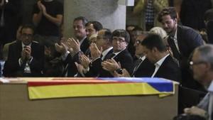 Puigdemont presidió el sepelio de Jacint Borràs