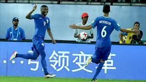 Lincoln celebrando un gol en el Mundial sub-17
