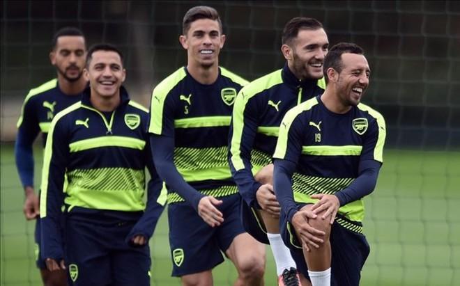 El Arsenal se entren� el martes en Colney