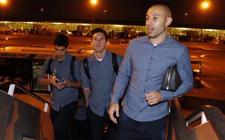 Mascherano, Su�rez y Messi se quedan en Barcelona