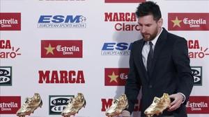 Messi habló con motivó de la entrega de su cuarta Bota de Oro