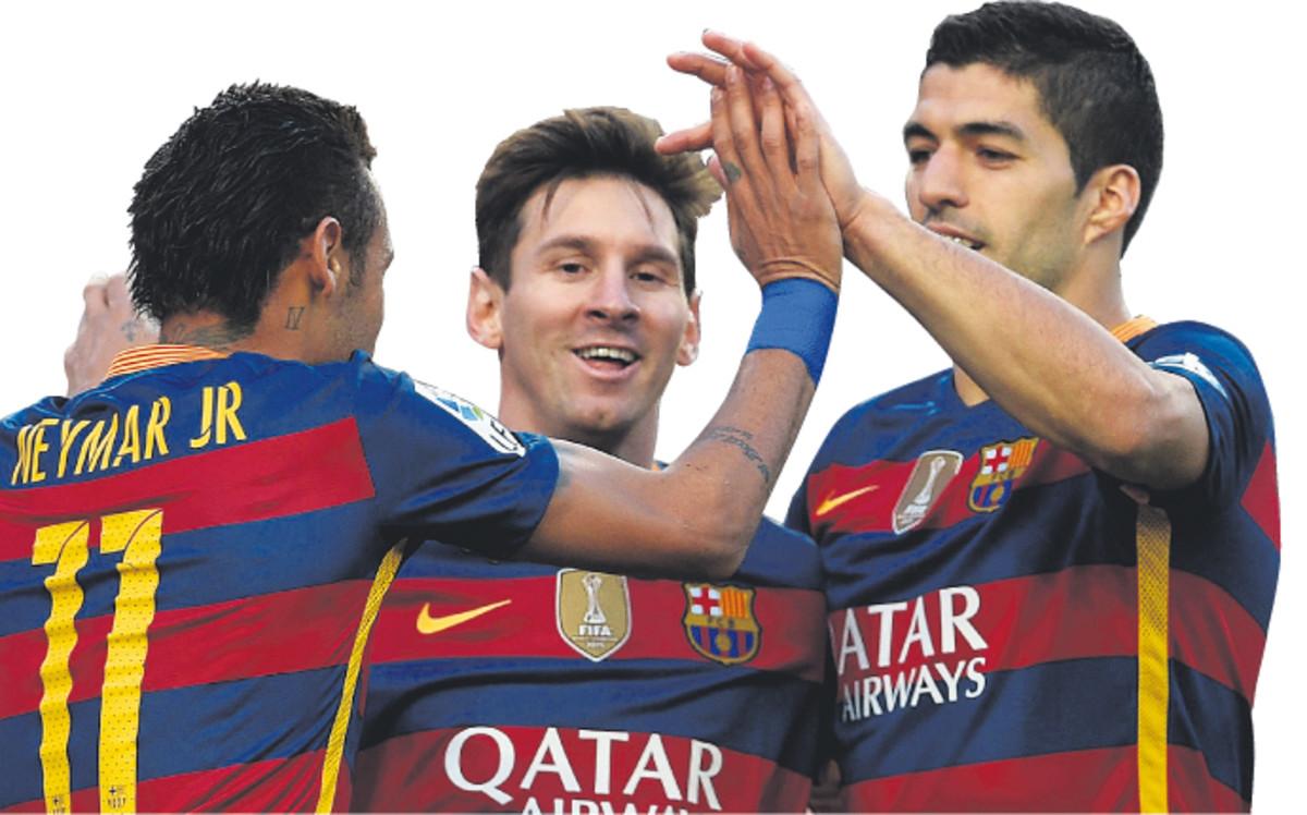 La noche de Messi, Su�rez y Neymar