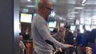 Sampaoli, en el aeropuerto de Roma