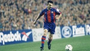 Sánchez Jara, en un partido en el Camp Nou, en 1994