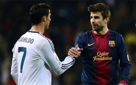 Cristiano y Piqu� s evolver�n a ver las caras el martes 26 en el Camp Nou