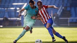 Marta Corredera, en una imagen del Atlético-Barça de la primera vuelta