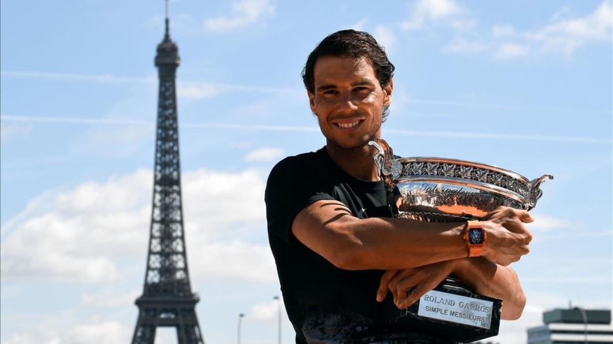 Rafa Nadal mostró su apoyo para París 2024