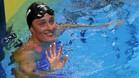 Mireia Belmonte se mostraba satisfecha tras su recuperación