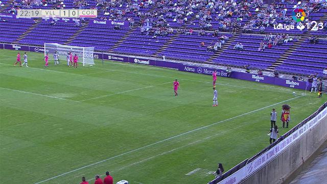 LALIGA 123   Valladolid - Córdoba (4-1): Gol olímpico de Óscar Plano