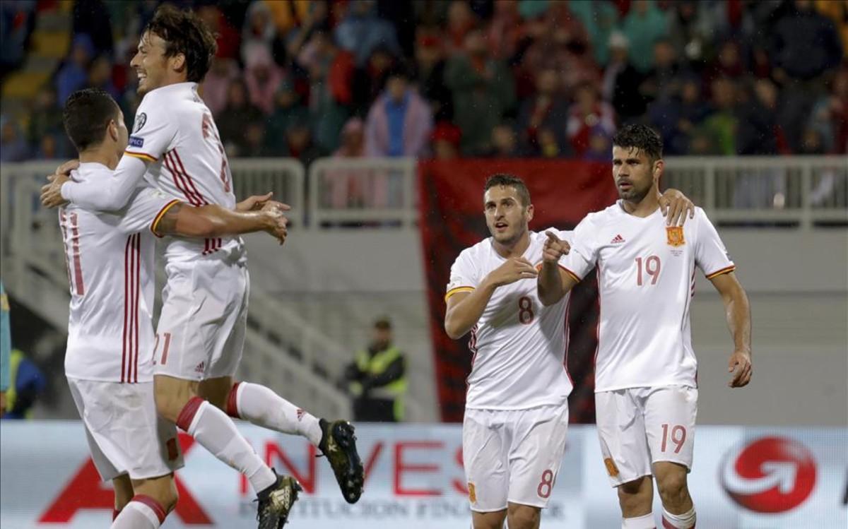 España arrebata el liderato a Albania