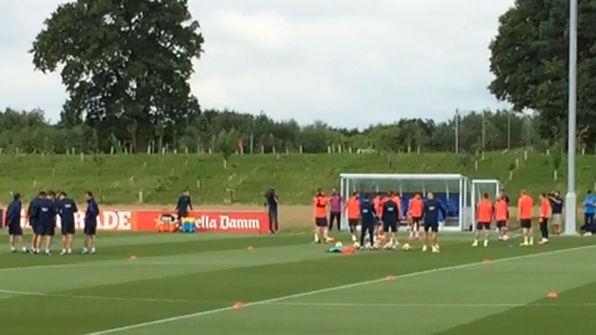 Entrenamiento del FC Barcelona en Saint George's Park del 27 de julio de 2016