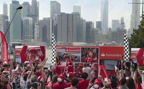Fernando Alonso, durante el acto promocional en Nueva York