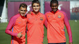 The three Bar�a B players in line for a call up for the Granada game