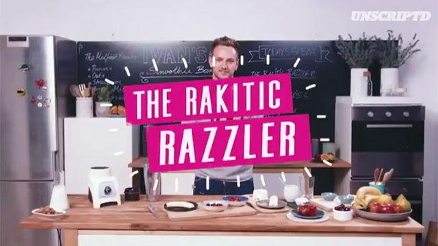 Rakitic explicó cómo hacer su batido