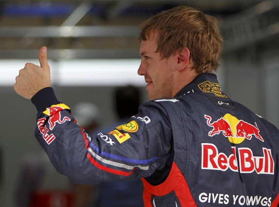 Vettel, celebrando su victoria en el GP de la India | Foto: TORU HANAI | REUTERS