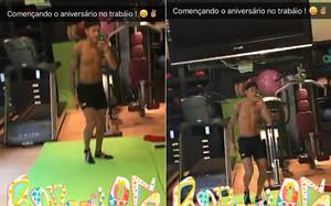 Neymar Jr., en el gimnasio