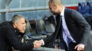 Mourinho y Guardiola, en una imagen de archivo