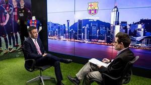 Bartomeu, durante su entrevista a Financial Times en Hong Kong
